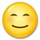 Smiling Face with Smiling Eyes on LG G4