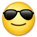 Smiling Face With Sunglasses on LG G4