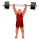Person Lifting Weights on LG G4