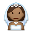 Bride With Veil: Medium-Dark Skin Tone on LG G5