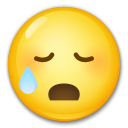 Sad but Relieved Face on LG G5