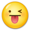 Winking Face with Tongue on LG G5