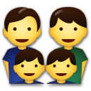 Family: Man, Man, Boy, Boy on LG G5