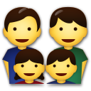 Family: Man, Man, Girl, Boy on LG G5