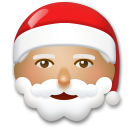 Santa Claus: Medium Skin Tone on LG G5