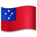 Flag: Samoa on LG G5