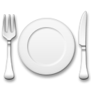 Fork and Knife With Plate on LG G5