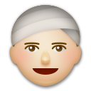 Person Wearing Turban: Medium-Light Skin Tone on LG G5