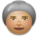 Old Woman: Medium Skin Tone on LG G5