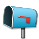 Open Mailbox With Lowered Flag on LG G5