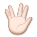 Vulcan Salute: Light Skin Tone on LG G5