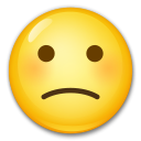 Slightly Frowning Face on LG G5