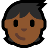 Child: Medium-Dark Skin Tone on Microsoft Windows 10 Fall Creators Update