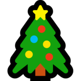 Christmas Tree on Microsoft Windows 10 Fall Creators Update