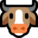 Cow Face on Microsoft Windows 10 Fall Creators Update