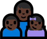 Family - Man: Dark Skin Tone, Boy: Dark Skin Tone, Girl: Dark Skin Tone on Microsoft Windows 10 Fall Creators Update