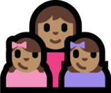 Family - Woman: Medium Skin Tone, Girl: Medium Skin Tone, Girl: Medium Skin Tone on Microsoft Windows 10 Fall Creators Update