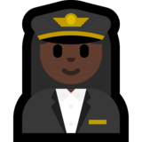 Woman Pilot: Dark Skin Tone on Microsoft Windows 10 Fall Creators Update