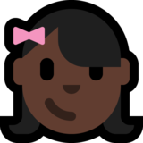 Girl: Dark Skin Tone on Microsoft Windows 10 Fall Creators Update