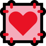 Heart Decoration on Microsoft Windows 10 Fall Creators Update