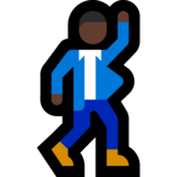 Man Dancing: Dark Skin Tone on Microsoft Windows 10 Fall Creators Update