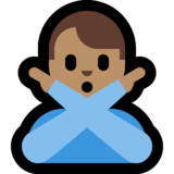 Man Gesturing No: Medium Skin Tone on Microsoft Windows 10 Fall Creators Update