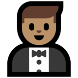 Person in Tuxedo: Medium Skin Tone on Microsoft Windows 10 Fall Creators Update