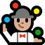 Man Juggling: Medium-Light Skin Tone on Microsoft Windows 10 Fall Creators Update