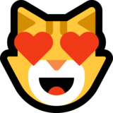 Smiling Cat with Heart-Eyes on Microsoft Windows 10 Fall Creators Update