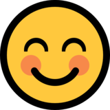 Smiling Face With Smiling Eyes on Microsoft Windows 10 Fall Creators Update