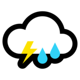 Cloud with Lightning and Rain on Microsoft Windows 10 Fall Creators Update