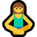 Woman in Lotus Position on Microsoft Windows 10 Fall Creators Update