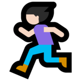 Woman Running: Light Skin Tone on Microsoft Windows 10 Fall Creators Update