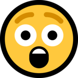 Astonished Face on Microsoft Windows 10 April 2018 Update