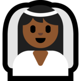 Bride With Veil: Medium-Dark Skin Tone on Microsoft Windows 10 April 2018 Update