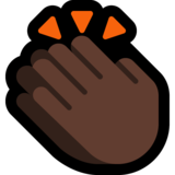 Clapping Hands: Dark Skin Tone on Microsoft Windows 10 April 2018 Update