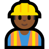 Construction Worker: Medium-Dark Skin Tone on Microsoft Windows 10 April 2018 Update