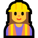 Woman Construction Worker on Microsoft Windows 10 April 2018 Update