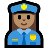 Woman Police Officer: Medium Skin Tone on Microsoft Windows 10 April 2018 Update
