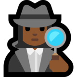 Woman Detective: Medium-Dark Skin Tone on Microsoft Windows 10 April 2018 Update