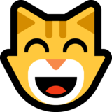 Grinning Cat with Smiling Eyes on Microsoft Windows 10 April 2018 Update