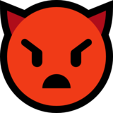 Angry Face with Horns on Microsoft Windows 10 April 2018 Update