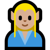 Man Elf: Medium-Light Skin Tone on Microsoft Windows 10 April 2018 Update