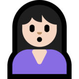 Person Pouting: Light Skin Tone on Microsoft Windows 10 April 2018 Update