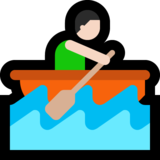 Person Rowing Boat: Light Skin Tone on Microsoft Windows 10 April 2018 Update