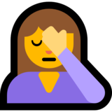 Woman Facepalming on Microsoft Windows 10 April 2018 Update