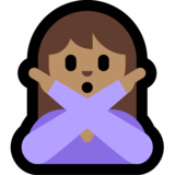 Woman Gesturing No: Medium Skin Tone on Microsoft Windows 10 April 2018 Update