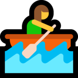 Woman Rowing Boat on Microsoft Windows 10 April 2018 Update