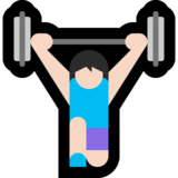 Woman Lifting Weights: Light Skin Tone on Microsoft Windows 10 April 2018 Update