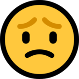 Worried Face on Microsoft Windows 10 April 2018 Update